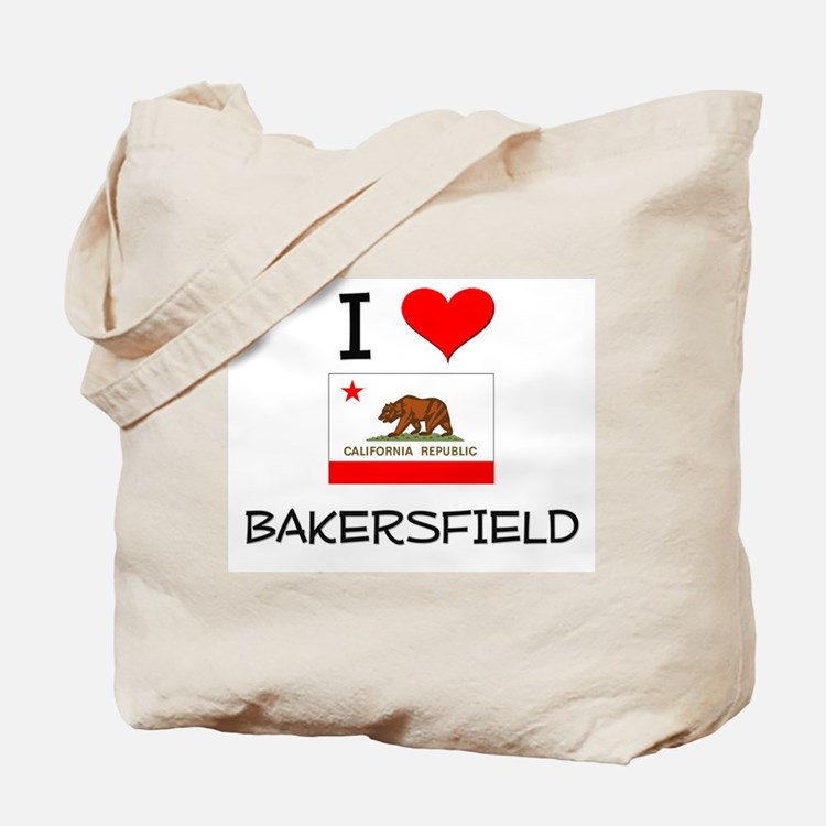 I Love Bakersfield California Tote Bag