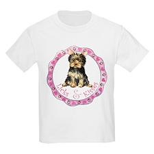 Yorkie Valentine Kids T-Shirt