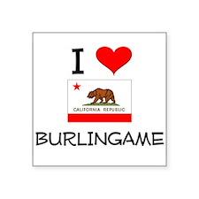 I Love Burlingame California Sticker