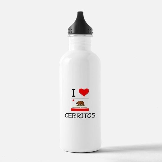 I Love Cerritos California Water Bottle