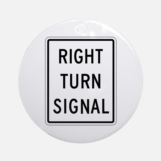 Right Turn Signal - USA Ornament (Round)