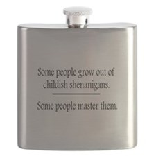Outgrow Childish Shenanigans Flask