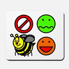 Dont Worry Bee Happy Mousepad
