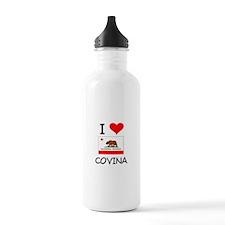 I Love Covina California Water Bottle