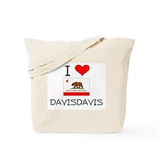 I Love Davisdavis California Tote Bag
