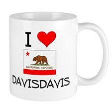 I Love Davisdavis California Mugs