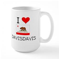 I Love Davisdavis California Mugs