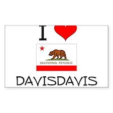 I Love Davisdavis California Decal
