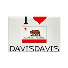 I Love Davisdavis California Magnets