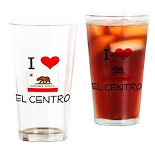 I Love El Centro California Drinking Glass
