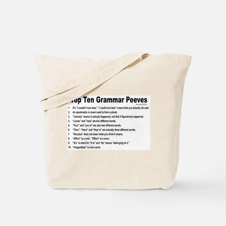 Grammar Peeves Tote Bag