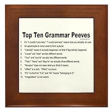 Grammar Peeves Framed Tile