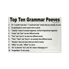 Grammar Peeves Rectangle Magnet (100 pack)