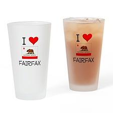 I Love Fairfax California Drinking Glass