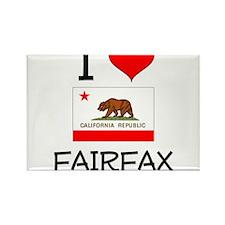 I Love Fairfax California Magnets