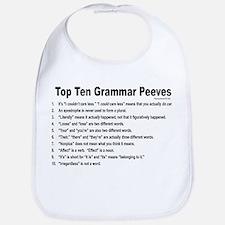 Grammar Peeves Bib