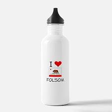 I Love Folsom California Water Bottle