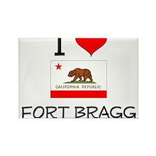 I Love Fort Bragg California Magnets