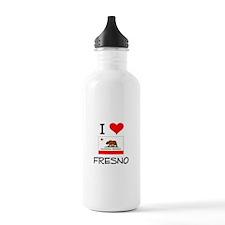 I Love Fresno California Water Bottle