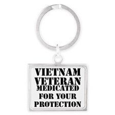 Vietnam Veteran Medicated For Y Landscape Keychain