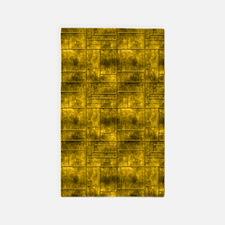 Industrial Golden Metal 3'x5' Area Rug