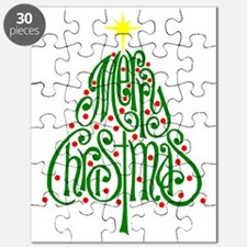 Merry Christmas Tree Puzzle