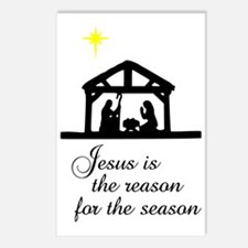 Jesus Is The Reason Nativ Postcards (Package of 8)