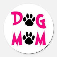 Dog Mom Round Car Magnet