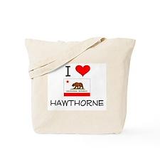 I Love Hawthorne California Tote Bag