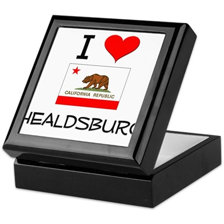I Love Healdsburg California Keepsake Box