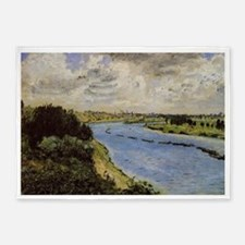 Renoir: Barges on the Seine 5'x7'Area Rug