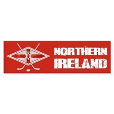Northern Ireland Ice Hockey Bumper Bumper Sticker
