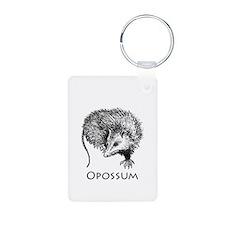 Opossum (line art) Keychains