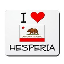 I Love Hesperia California Mousepad