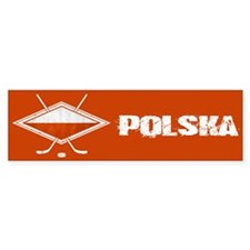 Polski Hokej Na Lodzie Flag Bumper Bumper Sticker
