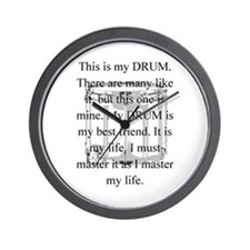 This is my drum -- new items Wall Clock