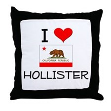 I Love Hollister California Throw Pillow
