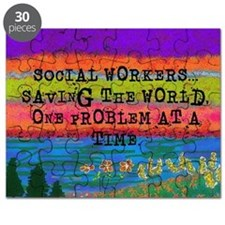 SOCIAL WORKERS SAVING THE WORLD Puzzle