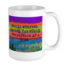 SOCIAL WORKERS SAVING THE WORLD Mugs