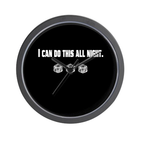 I can d20 all night! Wall Clock