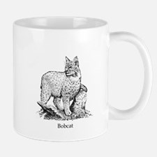 Bobcat (line art) Mugs