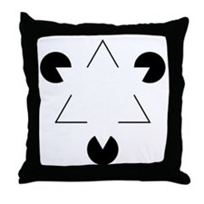 Kanizsa Triangle Throw Pillow