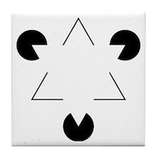 Kanizsa Triangle Tile Coaster