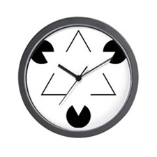 Kanizsa Triangle Wall Clock