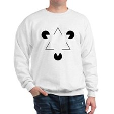 Kanizsa Triangle Sweatshirt