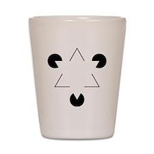 Kanizsa Triangle Shot Glass