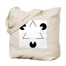 Kanizsa Triangle Tote Bag