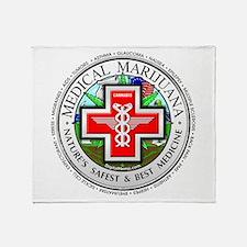 Medical Marijuana logo Throw Blanket