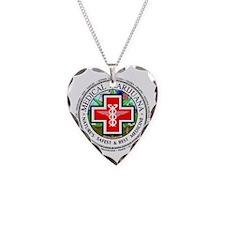Medical Marijuana logo Necklace Heart Charm