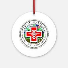 Medical Marijuana logo Ornament (Round)